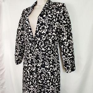 Vintage Liz Claiborne Silk jacket black white